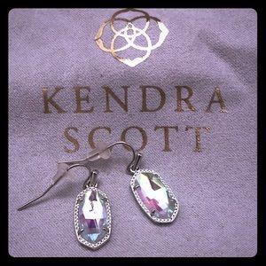 Kendra Scott Lee Silver Dichroic Glass Earrings
